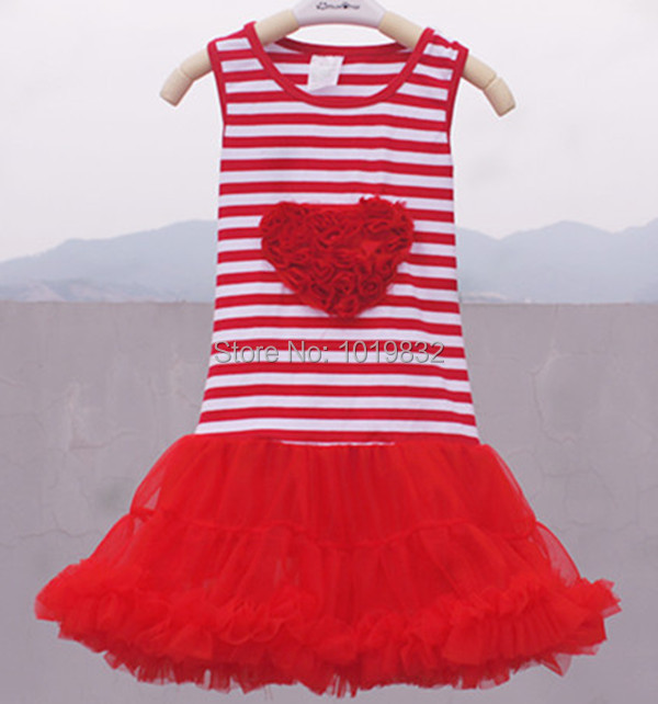 26230b070 Online Shop Ready To Ship ! Children Girl Dress Red White Striped ...