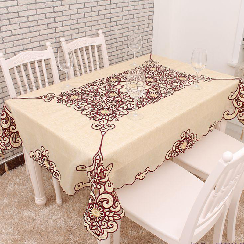 Rectangular Table cloth Cuting Work Tablecloth Tablelinen Embroidery Tablecloth 53X69 Inches
