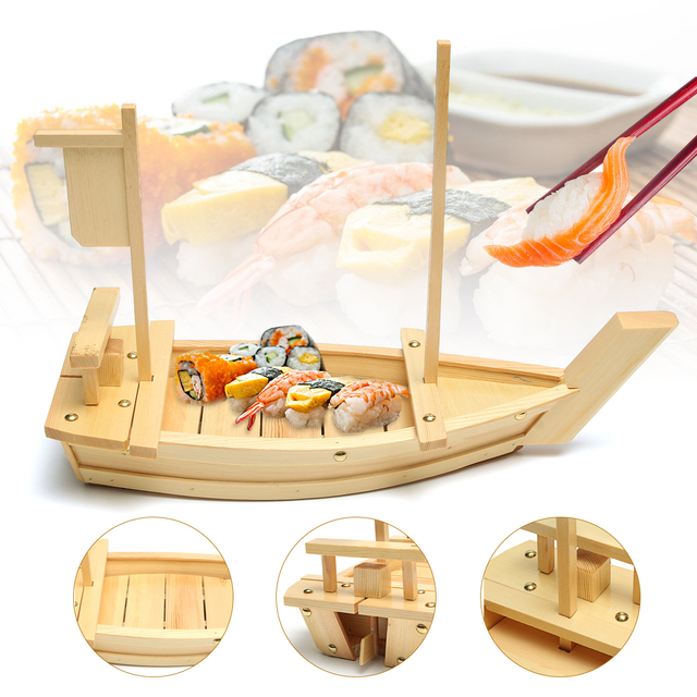 Grote Houten Boot.50x19 Cm Grote Houten Sushi Boot Serveren Plaat Lade Sashimi