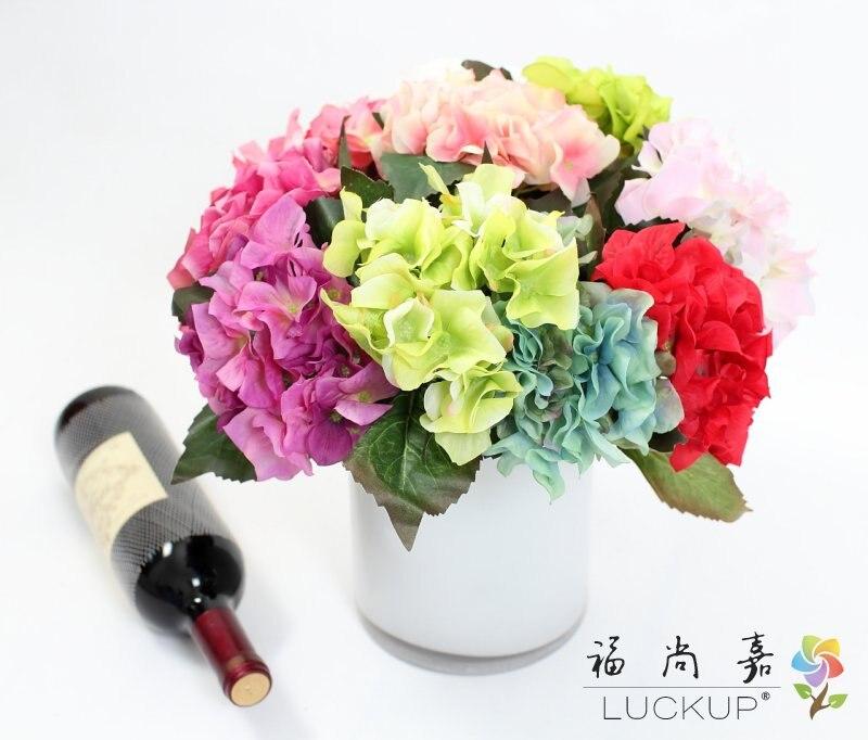 1 PCS Beautiful short stem Artificial Hydrangea Silk Flower ball Home Wedding Decoration Gift F473
