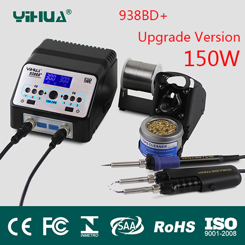 yihua 938BD+SMD Soldering Tweezer Repair Rework Station Electric heating pliers Constant temperature heating soldering station паяльная станция yihua 938bd
