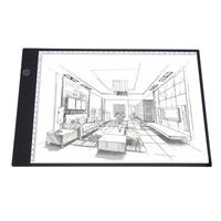 LED Drawing Copy Board Pad Table Write Light Digital Tablets 350mmx240mm Copy Table LED Board Writing