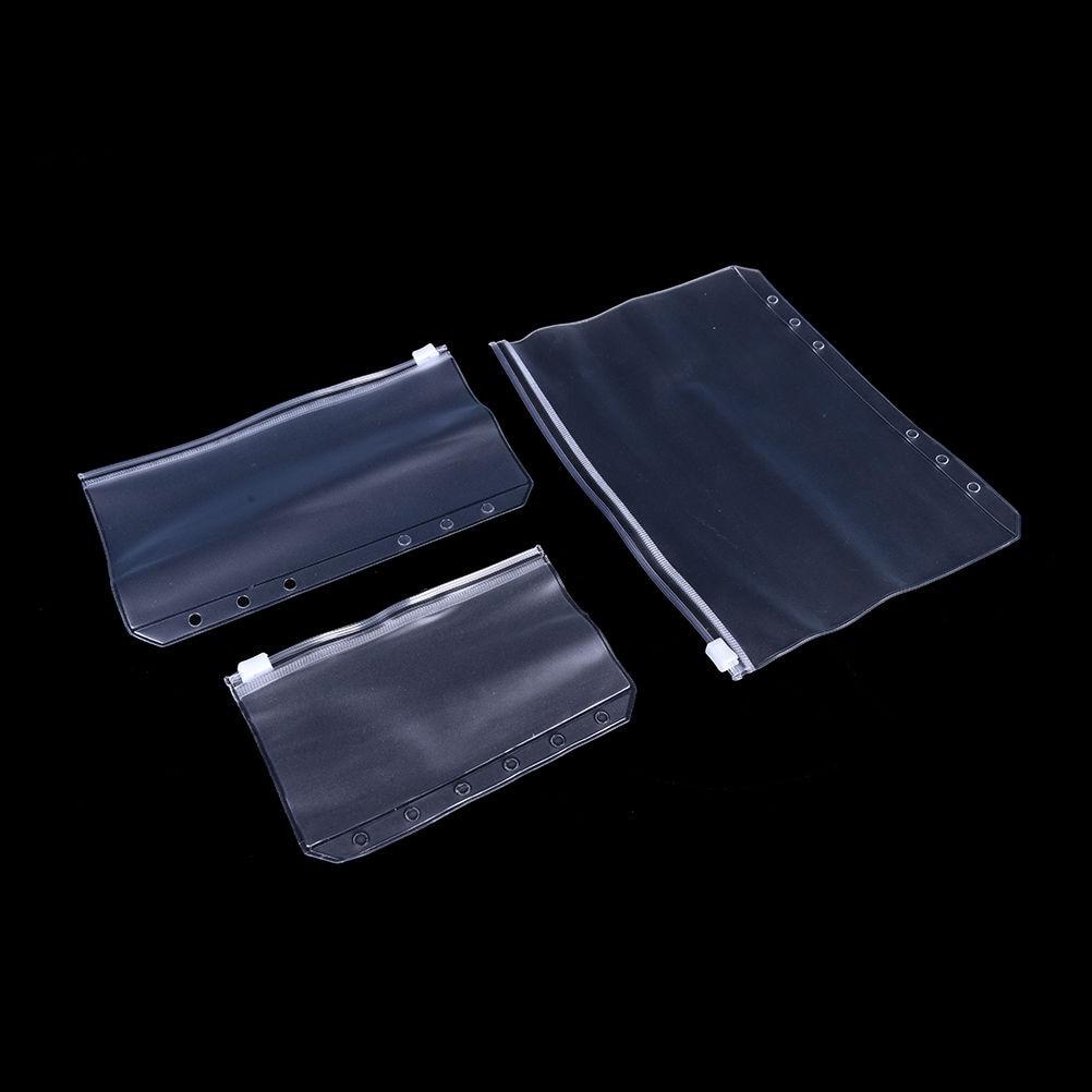 For A5/A6/A7 Card Holder Bag PVC Presentation Binder Folder Zipper Receive Bag Filing Storage Bag