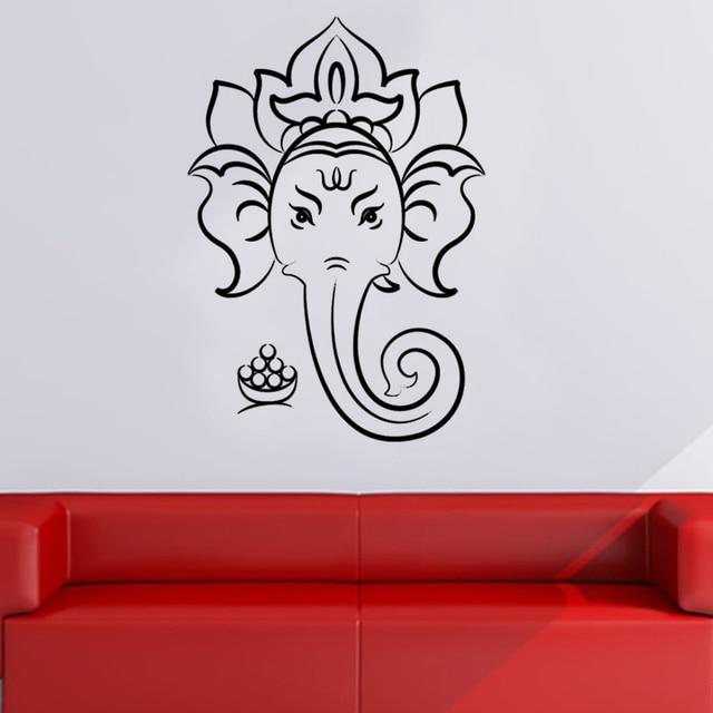aliexpress : buy sacred ganesha hindu god wall sticker home