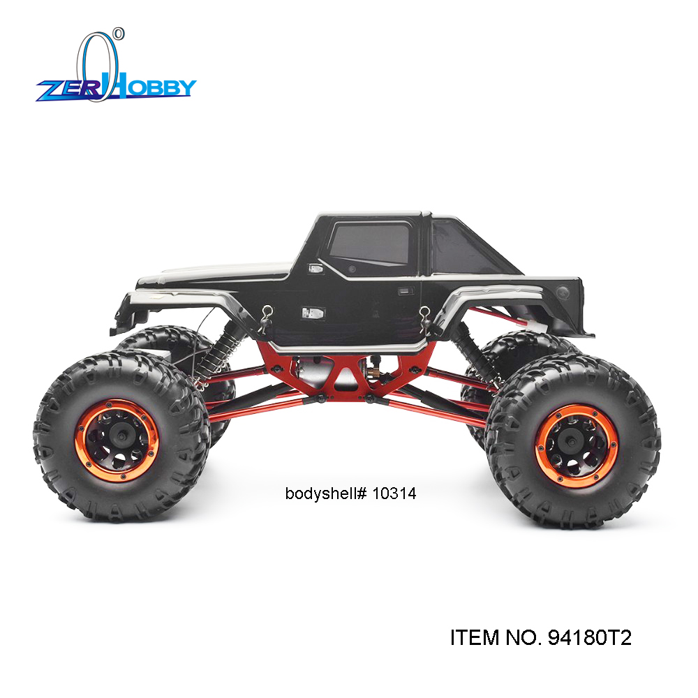 HSP RACING HOBBY CAR 1/10 SCALE ELECTRIC 4WD OFF ROAD ROCK CRAWLER TRUCK TWO WHEELS STEERING MODEL 94180T2 02023 clutch bell double gears 19t 24t for rc hsp 1 10th 4wd on road off road car truck silver