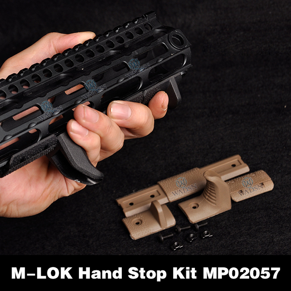 WADSN Airsoft M-LOK Hand Stop Kit For KeyMod M LOK Attachment System M-lok Handguard 4 Pcs/set Acessorios Softair MP02057
