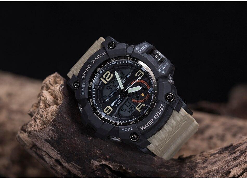 SANDA 759 Sports Men's Watches Top Brand Luxury Military Quartz Watch Men Waterproof S Shock Wristwatches relogio masculino 2019