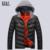 Perfeito 2016 de Inverno Dos Homens Para Baixo Casacos Men Respirável Grosso Casacos Primavera Algodão-Acolchoado Outwear Casual Masculino Casaco De Penas, UMA303