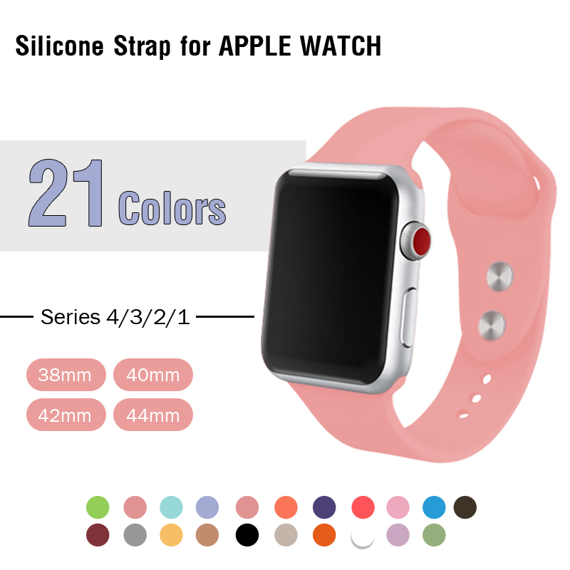 Vintage Rose Strap For Apple Watch 4 Band 40mm 44mm Silicone Wrist Band 38mm 42mm For Iphone Watch Series 3 Iwatch 2