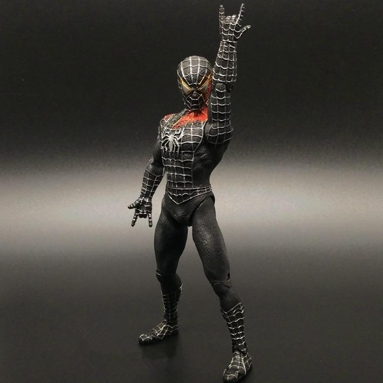 New Hot Toy 15cm Original Garage Kit Figurine <font><b>Spiderman</b></font> - Venom PVC Figure Spider-man Black Doll Collectible Model Toy In Stock