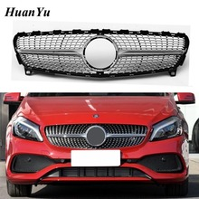 Facelift Front Bumper Grille for Mercedes-Benz A class W176 Diamond Style ABS Replacement Racing Grill 2016-2018 A200 A250