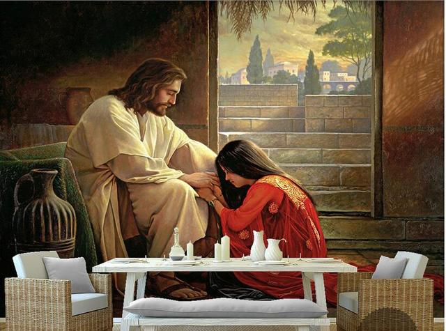 3d Room Wallpaper High End Custom Mural Non Woven 3 D Jesus And The