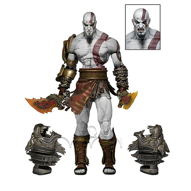 God of War 3 Ghost Sparta Kratos Action Figure Toy Collectible Play Statue Model