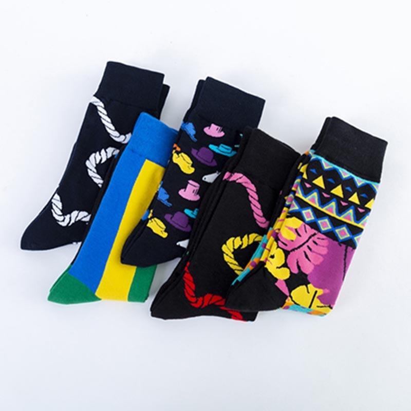 Creative Personality Fashion Harajuku Men Socks Streets Trend Skateboard Hip Hop Funny Socks Calcetines Hombre Divertido Socks