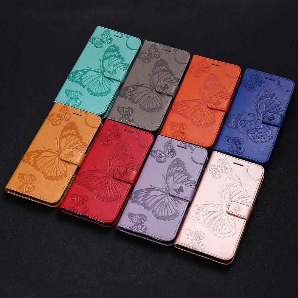 2019 Nieuwste Ontwerp Luxe Flip Leather Case Voor Huawei Y5 Y6 Y7 Y9 2018 Y9 2019 Cover 3d Embossing Grote Vlinder Coque Portemonnee Etui Fundas Tok Caso Lange Levensduur