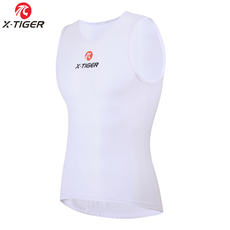 X-Tiger Men's Mesh Breathable Bike Cycling Jerseys Cycle Clothing Sleeveless Jersey Vest Compress Base Layer Underwear