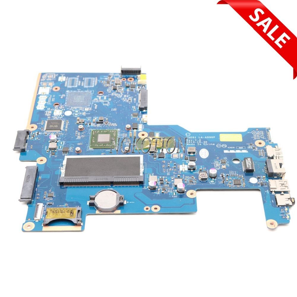 NOKOTION 750633-501 For HP 15-H 15-G series Laptop Motherboard ZS051 LA-A996P REV 1.0 750633-001 main board 764269 501 main board fit for hp 15 g notebook pc motherboard system board 764269 001 zso51 la a996p a8 6410 discrete graphics