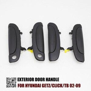 Один набор 4 шт наружные дверные ручки для Hyundai Getz/Click/TB 02-09 Dodge Brisa (Венесуэла) Inokom Getz (Малайзия) FR: 82660-1C000