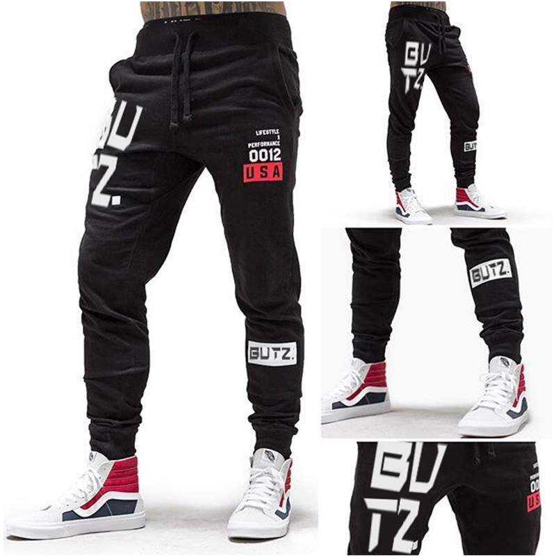 Training Pants Men Gym Running Pants Cotton Fitness Clothing Joggers Male Sweatpants Workout Skinny Trousers Mens Sport Pants