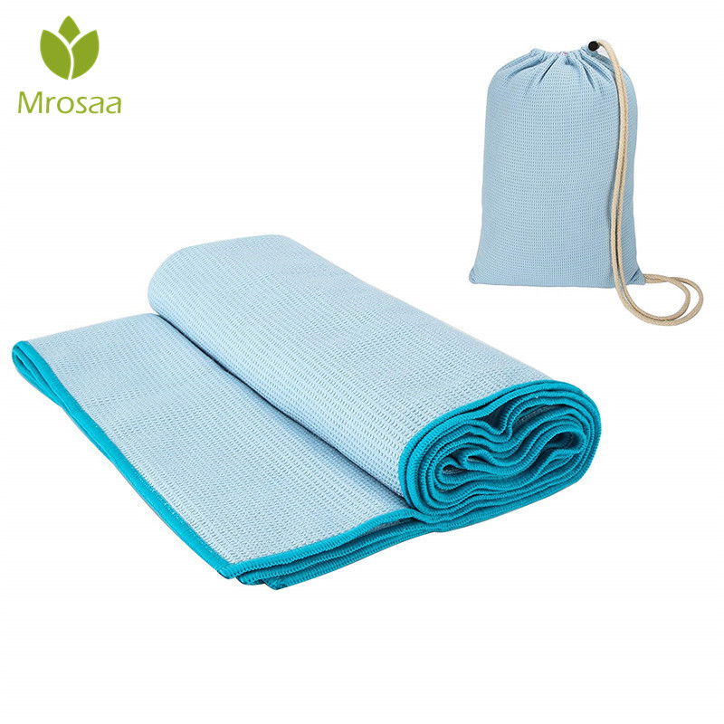 190x68cm On Slip Yoga Towels 100% Microfiber Sweat