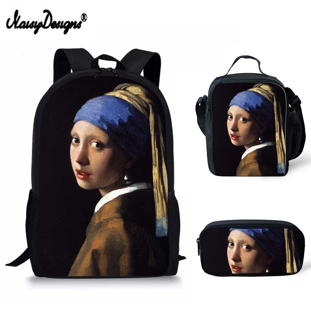 Sacs d'école pour enfants filles enfants licorne 3 ensembles Mini sacs d'école pour adolescentes chevaux femmes déjeuner sac à crayons sac à dos cartable