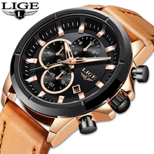 LIGE New Watches Men Luxury Brand Quartz Watch Fashion Chronograph Watch Relojes Hombre Sports Clock Male Hour Relogio Masculino