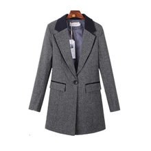 Spring Autumn Women Plus Size Slim Long Blazer 2017 New Basic Solid Costume Office Female Formal Jackets Ladies Work Suit C197