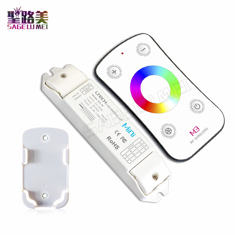 M3-3A DC12V/24V 3Ax3CH 9A RGB LED Receiving Controller + M3 RF Wireless Touch Remote for 5050 3528 RGB LED Strip Lights RibbonM3-3A DC12V/24V 3Ax3CH 9A RGB LED Receiving Controller + M3 RF Wireless Touch Remote for 5050 3528 RGB LED Strip Lights Ribbon