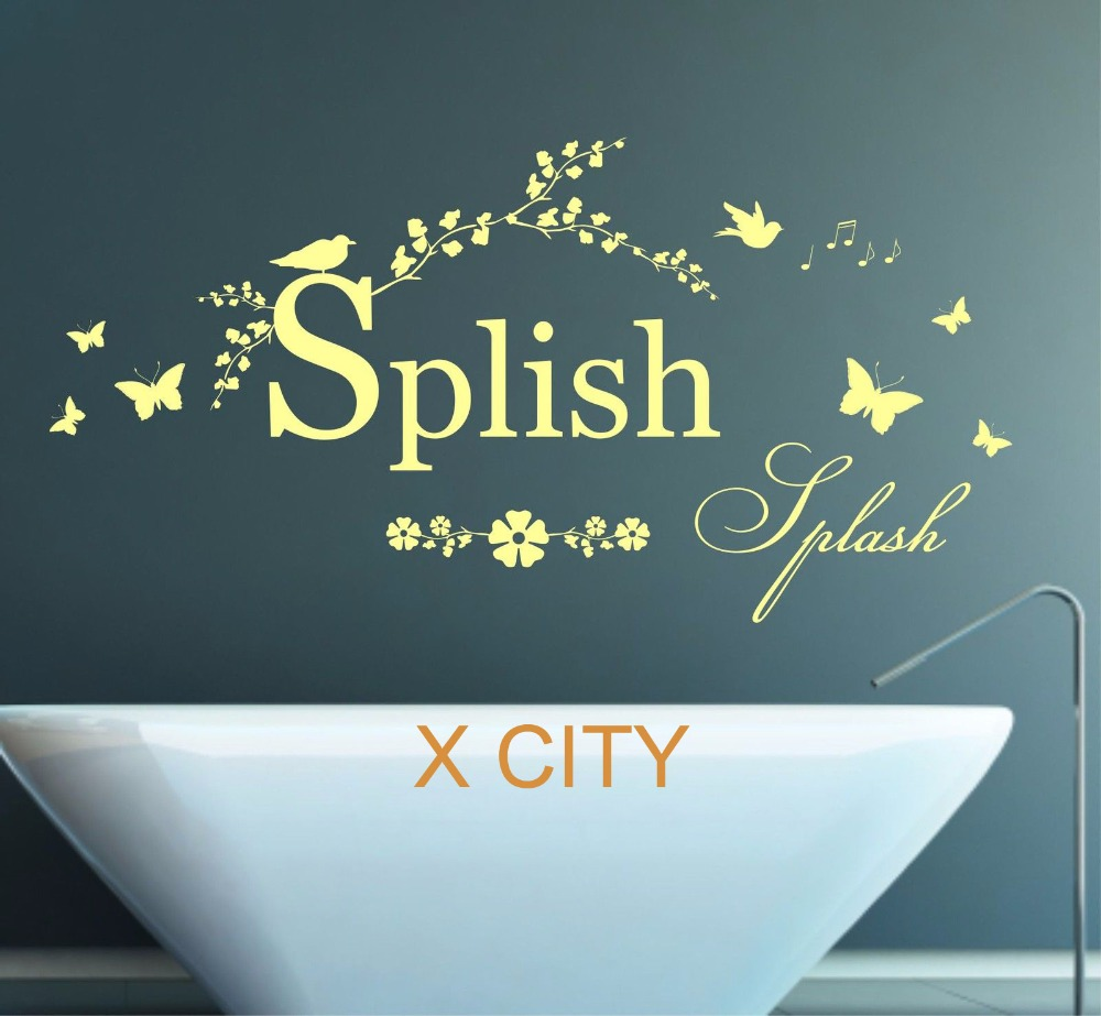 Bathroom wall art stickers - Aliexpress Com Buy Splish Splash Quote Words Bathroom Wall Art Sticker Removable Vinyl Transfer Decal Home Decoration S M L From Reliable Home Decor