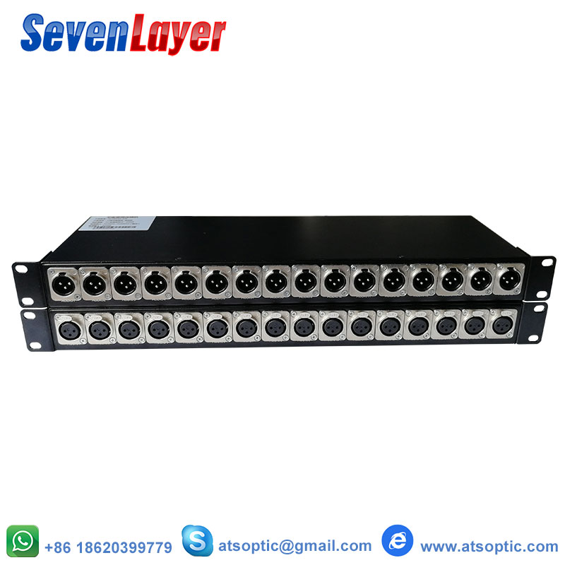 16ch Balanced Audio To Fiber Optic Transceiver And Receiver XLR Balanced Audio Over Fiber Audio Digital Fiber Media Converter
