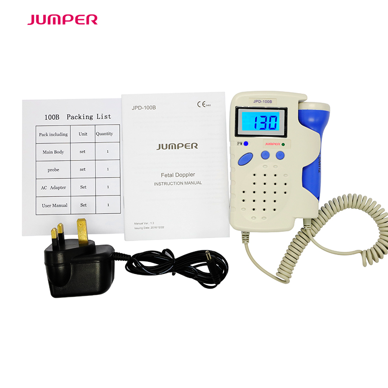 Doppler foetal 100B Fetal Heart Rate Detection Device Easy to use for Home FHR Portable Ultrasonic Diagnostic Baby LCD Screen doppler foetal 100b fetal heart rate detection device easy to use for home fhr portable ultrasonic diagnostic baby lcd screen