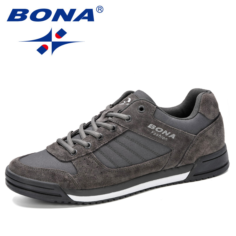 BONA 2019 Men Skateboarding Shoes Unisex Sport Sneakers Male Trainers Breathable Basket Shoes Zapatillas Mujer Chaussures