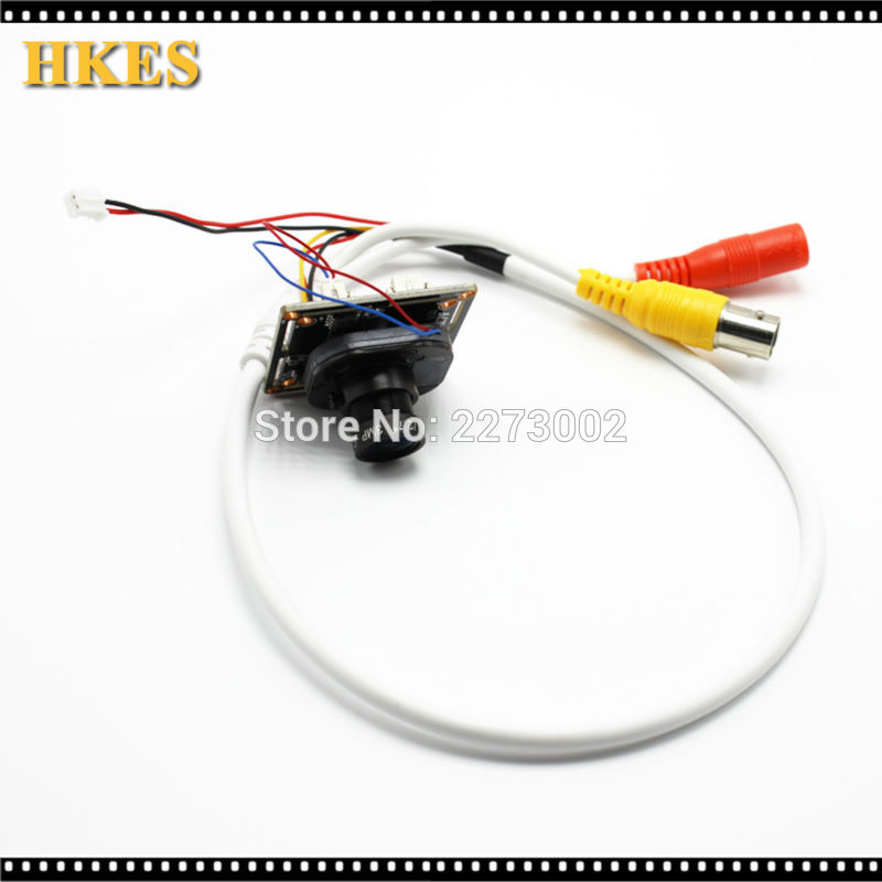 HKES 54pcs/Lot Indoor HD AHD Mini Camera 1.3mp Module with BNC Port Cable and 2.8mm Lens international business theory and international economy
