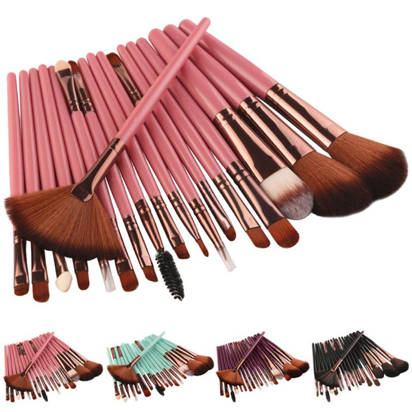 2017 New 18 pcs Makeup Brush Set tools Make-up Toiletry Kit Wool Make Up Brush Set X8073 5Up