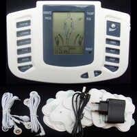 Massagem eletrônica do pulso do emagrecimento do corpo da versão russa para o músculo relaxar o alívio da dor estimulador dezenas acupuntura terapia máquina