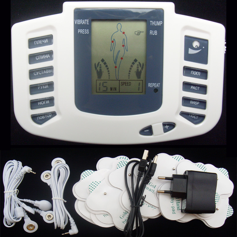 Russian Version Electronic Body Slimming Pulse Massage for Muscle Relax Pain Relief Stimulator Tens Acupuncture Therapy Machine electronic body slimming pulse massage for muscle relax pain relief stimulator massageador tens acupuncture therapy machine