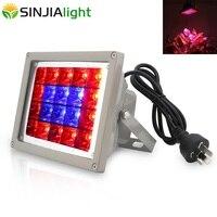 Foco LED de 40 W  lámpara de crecimiento de luz roja + azul para plantas  tienda de cultivo hidropónico  plántulas  iluminación de flores