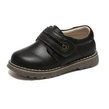 בית ספר בנים אמיתי עור תלמיד נעלי שחור אביב סתיו הנעלה לילדים chaussure זאפאטו menino ילדים נעלי