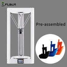 Сенсорный экран flsun 3D принтер большой Размеры 260 ** 260*330 мм металл принтер 3D автоматическое выравнивание предварительно Собранные с 1 кг нить SD Card