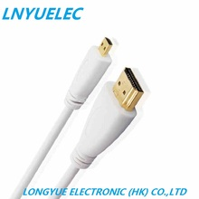 LNYUELEC 0.5m 1m 1.5m 2m 3m 5m MICRO HDMI to cable with Ethernet Gold Plated for Cell phones 2M win8 4kx2k 3D PS3 XBOX