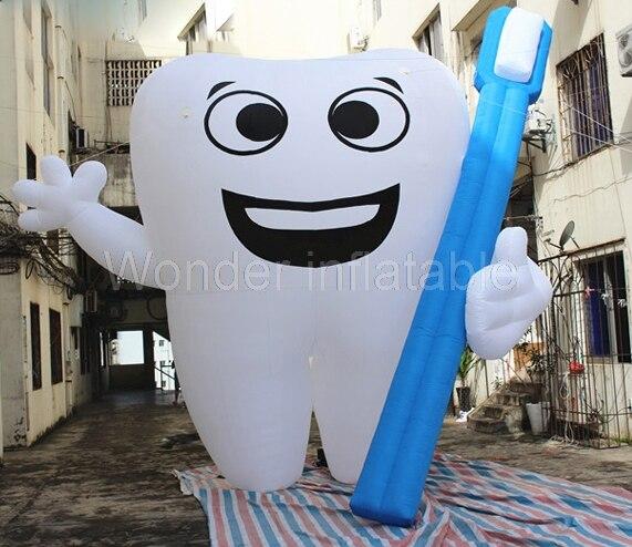 Pielāgots lēts milzīgs piepūšams zobs ar zobu suku / piepūšamo - Svētku piederumi