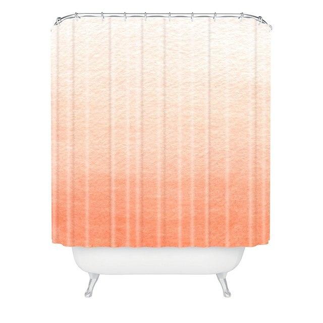 Social Proper Peach Ombre Shower Curtain