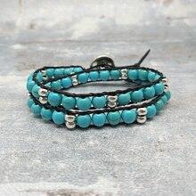 где купить youga 6mm Artificial Natural stone Handwoven Bracelet Bohemian Ethnic Style Haute Couture Female Bracelet Free Shipping women по лучшей цене
