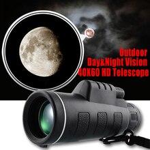 ナイトビジョン 40x60 hd光学単眼望遠鏡屋外のキャンプツール