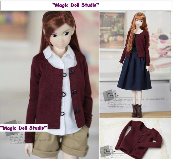 Fr041free Shipping 12 Inch Fashion Doll Clothes Burgundy Knit