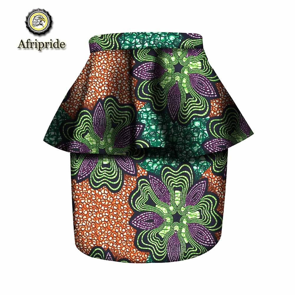 Afripride De Algodón S1827006 Ankara Africanos 436 Dashiki 415 Riche 425 Las 458 417 Mujeres Bazin Falda Casual 2019 Batik Impresión 398 Para Primavera 8qWgd78