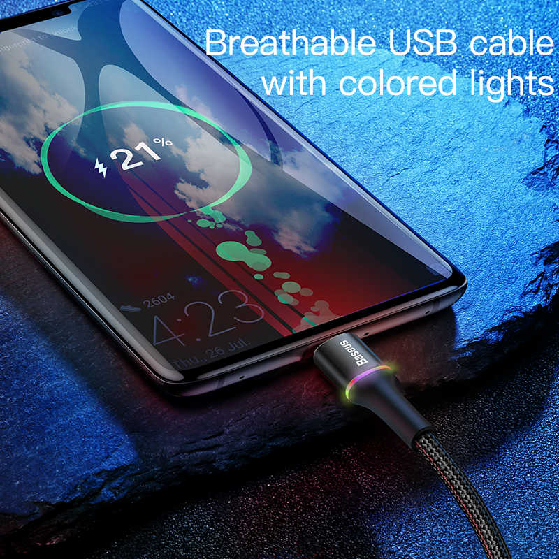 Baseus usb type C кабель для samsung Xiao mi Red mi Note 7 mi 9 t провод для быстрой зарядки USB-C зарядное устройство мобильный телефон USBC кабель type-c 2 м