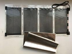 Бесплатная доставка, 50 см * 100 см (0,5 м * 1 м) дальняя инфракрасная электрическая пленка для подогрева пола с кабелем 1,5 м 220 В переменного тока 110 ...