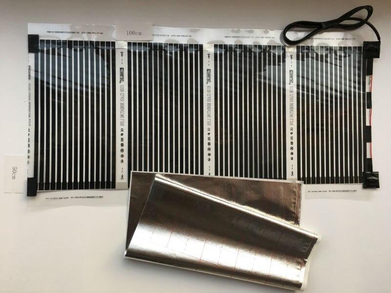 Nouvelle Expédition Libre 50 cm * 100 cm (0.5 m * 1 m) Infrarouge Lointain Électrique Chauffage Par Le Sol Films Avec 1.5 M Câble 220VAC 110 W