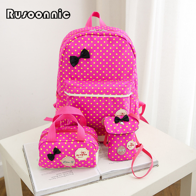 Rusoonnic Girl School Backpacks Set Composite Bags For Teenagers Small Backpacks Bagpack Bags for women 2017